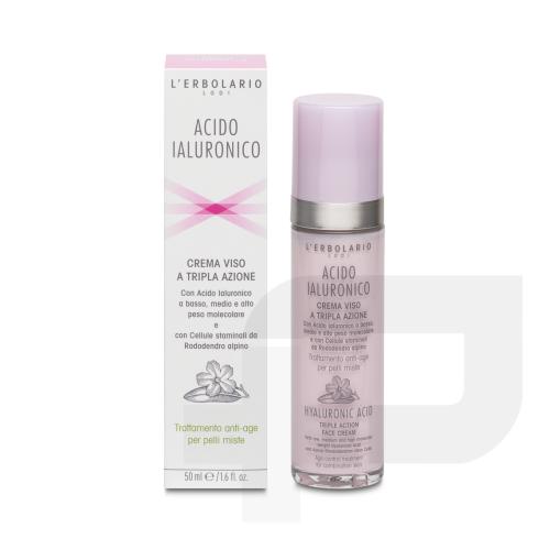 Crema viso per pelli miste acido ialuronico da 50 ml di L'erbolario