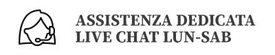 Contattaci in live chat dal lunedì al sabato