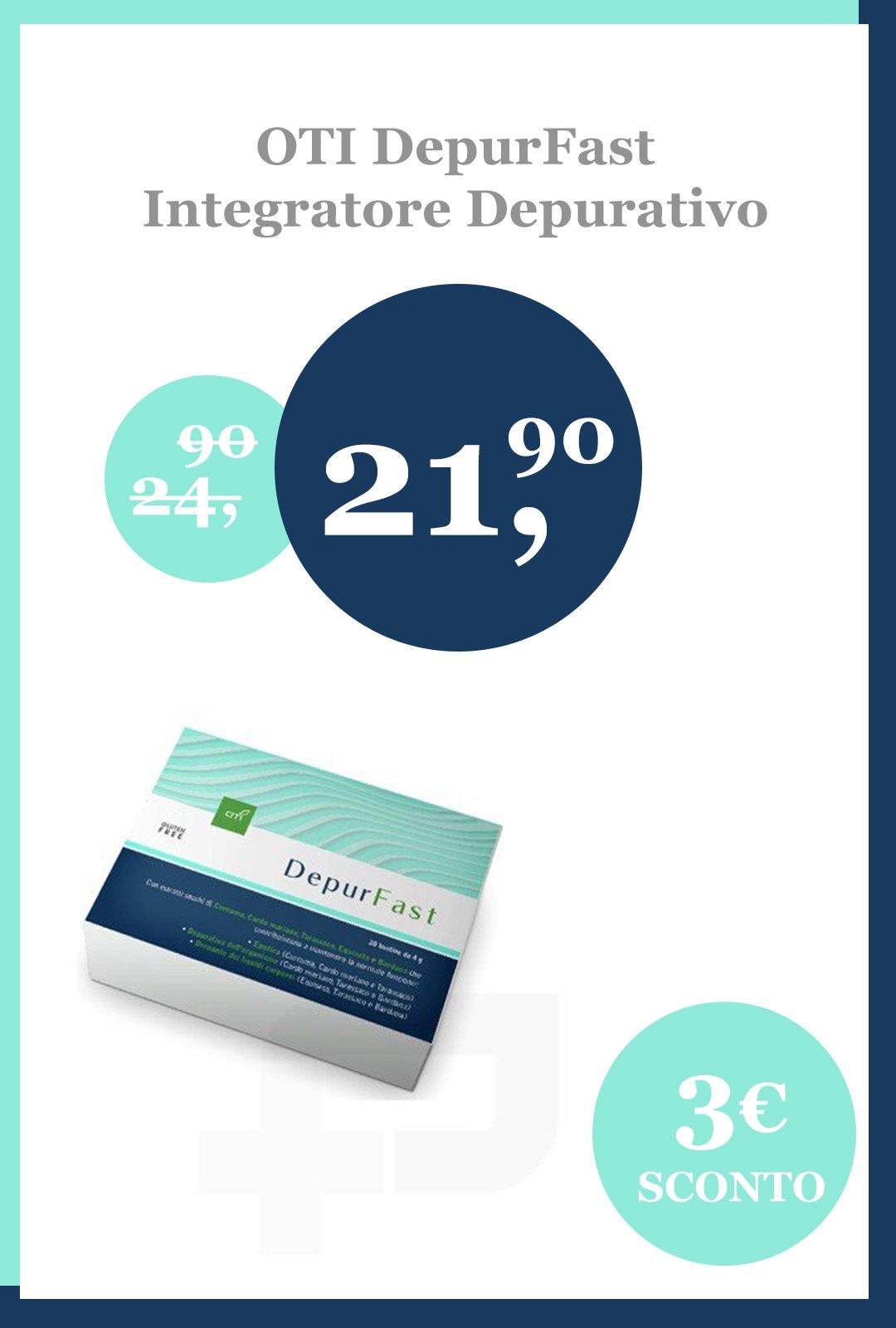 3€ di sconto su DepurFast Integratore Depurativo da 20 bustine