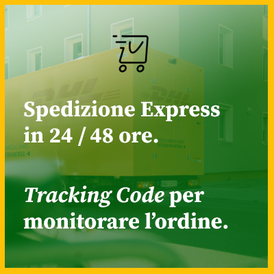 Spediamo con corrieri express in 24/48 ore