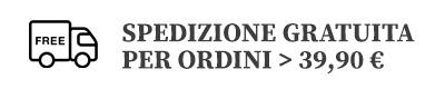 Spedizione gratuita in Italia per ordini sopra i 39,90€